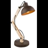 Lampe à poser STELLA bois - couleur rouille H68cm