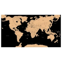 Carte du monde à gratter 80x45cm
