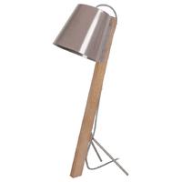 Lampe à poser FITZGERALD bois/taupe