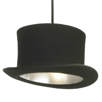 Suspension chapeau noir/silver D25cm