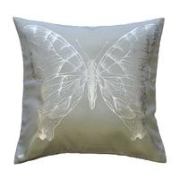 Housse de coussin papillon gris clair 40x40cm