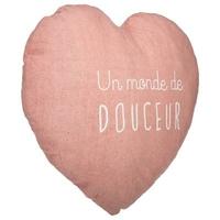 Coussin coeur rose - Un monde de Douceur