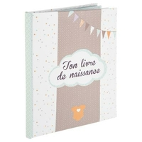 Livre naissance 56 pages - Taupe