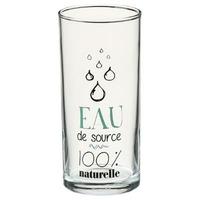 Lot de 3 verres - Eau de source 100% naturelle