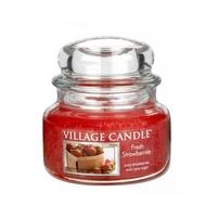 Bougie Fraises Fraîches petite jarre - Village Candle