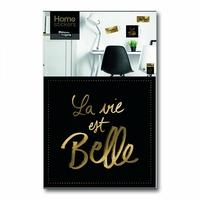 """Sticker mural """"La vie est belle"""" doré"""