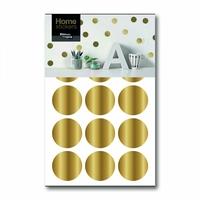 Stickers muraux pois dorés