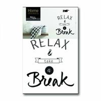 Sticker mural Relax & Take a Break