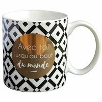 Mug - Avec toi jusqu'au bout du monde