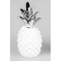 Ananas blanc/argent H24cm
