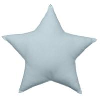 Coussin uni en forme d'étoile bleu gris