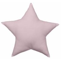 Coussin uni en forme d'étoile vieux rose