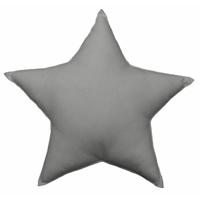 Coussin uni en forme d'étoile gris