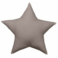 Coussin uni en forme d'étoile taupe