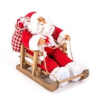 Figurine Père Noël sur luge