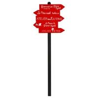 Pancarte bois flèches rouges