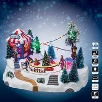 Village de Noël - La course de voitures
