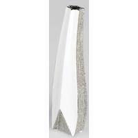 Vase argenté & blanc Magic 40cm