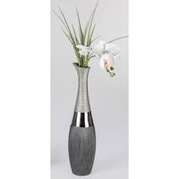 Vase bouteille gris 40cm