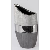 Vase Luxor Flach Silver 30cm
