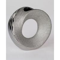 Vase rond wave silver 23cm