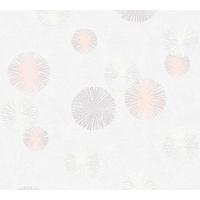 Papier peint intissé snowflakes gris rose