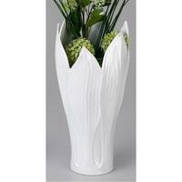 Vase feuille blanc H.46cm