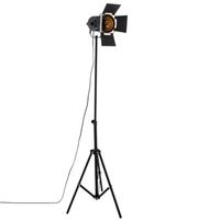 Lampadaire projecteur cinéma noir