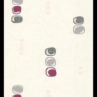 Papier peint expansé semi carré prune/gris