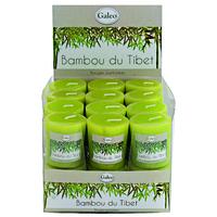 Bougie verte votive parfumée Bambou du Tibet