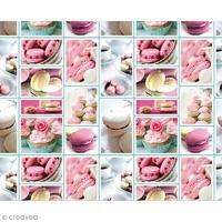 Adhésif impression Macarons 200x45cm