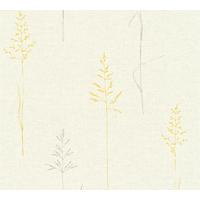 Papier peint intissé LIBERTY gris/moutarde