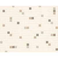 Papier peint vinyle expansé mosaïque chocolat