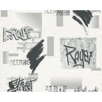 Papier peint TAG gris