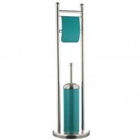 Brosse wc + dérouleur - Turquoise