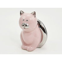Chat JUDITH rose/argent 13cm