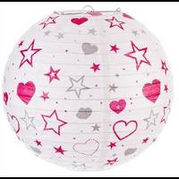 Lanterne boule papier rose fuschia
