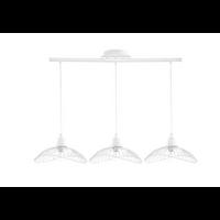 Suspension barre 3 luminaires KASTELI blanche
