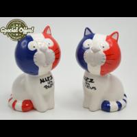Tirelire chat supporter - Allez les bleus