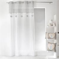 Voilage CHARLOTTE gris/blanc 140x240cm