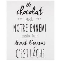 Sticker humour chocolat