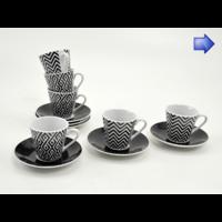 Coffret 6 tasses à café GRAPHIK