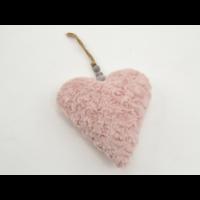 Suspension déco coeur rose douceur 19cm