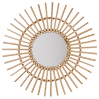 Miroir soleil en rotin D58cm