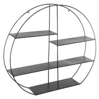 Étagère murale ronde en métal