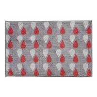 Tapis de bain GOUTTE gris/rouge 50x80cm