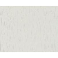 Papier peint expansé vagues blanc/argent