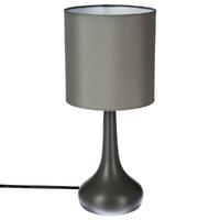 """Lampe grise """"Touch"""" en métal H33"""