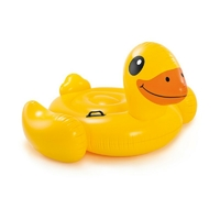 Canard jaune à chevaucher