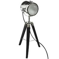 Lampe à poser rétro - projecteur vintage noir